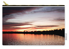 Carry-all Pouch featuring the photograph Lake Sunset, Pocono Mountains, Pennsylvania by A Gurmankin