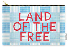 Land Of The Free Carry-all Pouch by Linda Woods