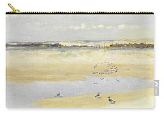 Lapwings By The Sea Carry-all Pouch by William James Laidlay