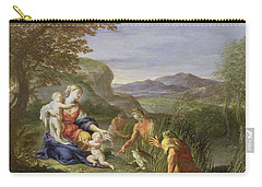 Latona And The Frogs Carry-all Pouch by Francesco Trevisani