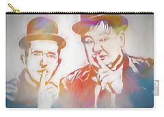 Laurel And Hardy Carry-all Pouch by Dan Sproul