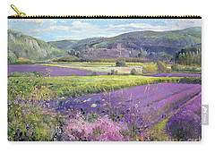 Lavender Fields In Old Provence Carry-all Pouch by Timothy Easton