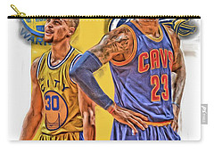 Lebron James Stephen Curry The Finals Carry-all Pouch by Joe Hamilton