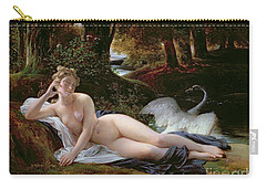 Leda And The Swan Carry-all Pouch by Francois Edouard Picot