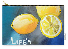 Lemons Carry-all Pouch by Linda Woods
