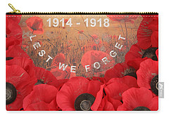 Carry-all Pouch featuring the photograph Lest We Forget - 1914-1918 by Travel Pics