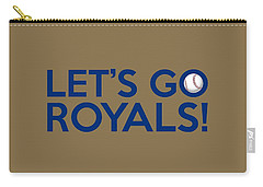 Let's Go Royals Carry-all Pouch by Florian Rodarte