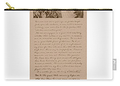 Lincoln And The Gettysburg Address Carry-all Pouch by War Is Hell Store