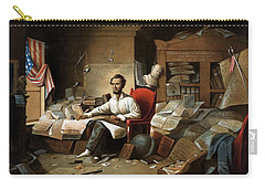 Lincoln Writing The Emancipation Proclamation Carry-all Pouch by War Is Hell Store