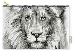 Lion Watercolor  Carry-all Pouch by Olga Shvartsur