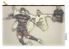 Lionel Messi Scores A Penalty Kick Against Levante  Carry-all Pouch by Don Kuing