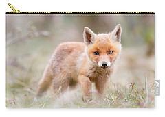 Little Fox Kit, Big World Carry-all Pouch by Roeselien Raimond