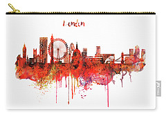 London Skyline Watercolor Carry-all Pouch by Marian Voicu