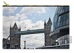 London Tower Bridge Carry-all Pouch by Dawn OConnor