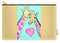 Long Neck Love Carry-all Pouch by Susie Cunningham