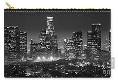 Los Angeles At Night Panorama 3 Carry-all Pouch by Bob Christopher