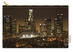 Los Angeles At Night Panorama 4 Carry-all Pouch by Bob Christopher