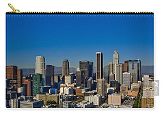 Los Angeles Skyline Carry-all Pouch by Chris Brannen