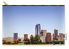 Los Angeles Skyline  Carry-all Pouch by Gene Parks