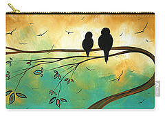 Love Birds By Madart Carry-all Pouch by Megan Duncanson