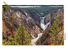 Lower Yellowstone Canyon Falls 5 - Yellowstone National Park Wyoming Carry-all Pouch by Brian Harig