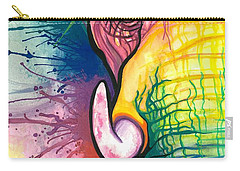 Lucky Elephant Spirit Carry-all Pouch by Sarah Jane