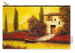 Lungo Il Fiume Tra I Papaveri Carry-all Pouch by Guido Borelli