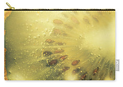 Macro Shot Of Submerged Kiwi Fruit Carry-all Pouch by Jorgo Photography - Wall Art Gallery