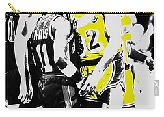 Magic Johnson And Isiah Thomas Carry-all Pouch by Brian Reaves