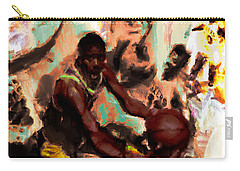 Magic Johnson In The Paint Carry-all Pouch by Brian Reaves