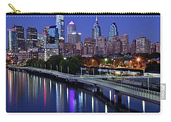 Magical Blue Hour Night Carry-all Pouch by Frozen in Time Fine Art Photography