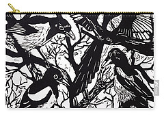 Magpies Carry-all Pouch by Nat Morley
