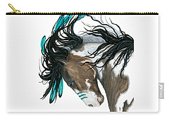 Majestic Turquoise Horse Carry-all Pouch by AmyLyn Bihrle