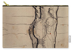 Male Act   Study For The Truth Carry-all Pouch by Ferdninand Hodler