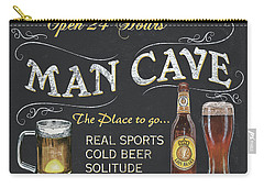 Man Cave Chalkboard Sign Carry-all Pouch by Debbie DeWitt