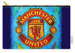 Manchester United Vintage Carry-all Pouch by Dan Haraga