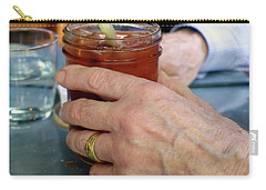 Mans Hand Holding Bloody Mary  Carry-all Pouch by Beth Wolff