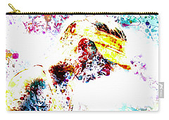 Maria Sharapova Paint Splatter 4p                 Carry-all Pouch by Brian Reaves