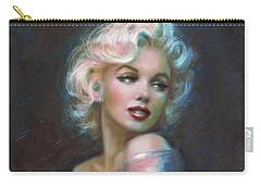 Marilyn Romantic Ww Dark Blue Carry-all Pouch by Theo Danella