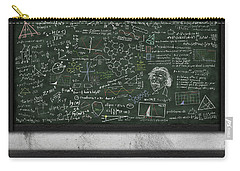 Maths Formula On Chalkboard Carry-all Pouch by Setsiri Silapasuwanchai