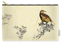 Meadowlark In Kansas Prairie 2 Carry-all Pouch by Anna Louise