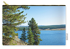 Meadowlark Lake And Trees Carry-all Pouch by Jess Kraft