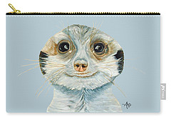 Meerkat Carry-all Pouch by Angeles M Pomata