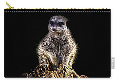 Meerkat Lookout Carry-all Pouch by Martin Newman