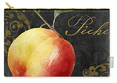 Melange Peach Peche Carry-all Pouch by Mindy Sommers