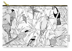 Menagerie Black And White Carry-all Pouch by Jacqueline Colley
