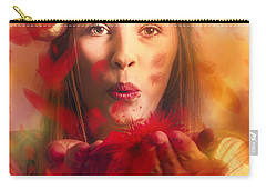 Merry Christmas Elf Carry-all Pouch by Jorgo Photography - Wall Art Gallery