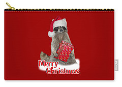 Merry Christmas -  Raccoon Carry-all Pouch by Gravityx9 Designs