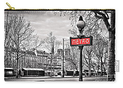 Metro Pont Marie Carry-all Pouch by Delphimages Photo Creations