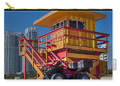 Miami Beach Lifeguard House Ocean Rescue Carry-all Pouch by Toby McGuire